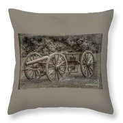 Civil War Cannon And Limber Throw Pillow