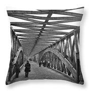 Civil War - Chain Bridge Throw Pillow
