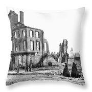 Civil War: Fall Of Richmond Throw Pillow