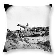 Civil War: Fort Fisher, 1865 Throw Pillow