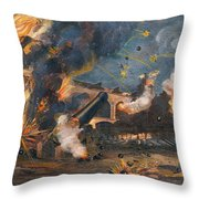 Civil War: Fort Sumter 1861 Throw Pillow