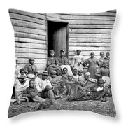 Civil War: Freed Slaves Throw Pillow