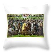Civil War Generals And Statesman Throw Pillow