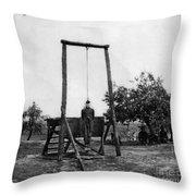 Civil War: Hanging, 1864 Throw Pillow