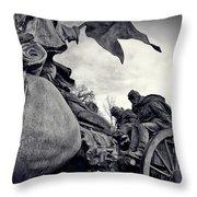 Civil War In Bronze Throw Pillow