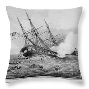 Civil War: Merrimac (1862) Throw Pillow