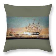 Civil War Merrimack 1862 Throw Pillow