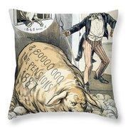 Civil War Pensions, 1888 Throw Pillow