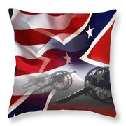 Civil War Silent Cannons Throw Pillow