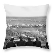 Civil War: Union Camp, 1862 Throw Pillow