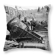 Civil War: Union Mortars Throw Pillow