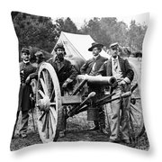 Civil War: Union Officers Throw Pillow
