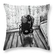 Rhode Island Civil War, Vacant Chair Throw Pillow