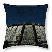Claerwen Reservoir In Moonlight Throw Pillow