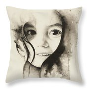 Claire Black And White Throw Pillow