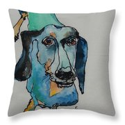 Claire In Blue Throw Pillow