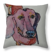Claire In Pink Throw Pillow