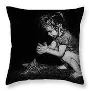 Claire On Beach Throw Pillow
