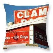 Clam Bar, East Hampton Throw Pillow