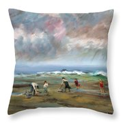 Clam Diggers - Sold Throw Pillow