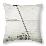 Clamming Throw Pillow