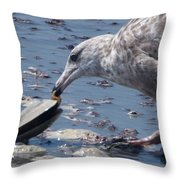 Clams For Brunch Throw Pillow