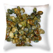 Clams In The Fish Market Throw Pillow