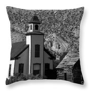 Clapboard Church 1898 Throw Pillow