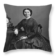Clara Barton (1821-1912) Throw Pillow