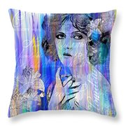 Clara Bow I'll See You In New York Throw Pillow