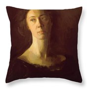 Clara Clara J Mather Throw Pillow