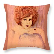 Clara, Redhead Throw Pillow