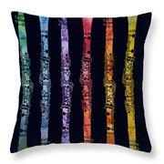 Clarinet Rainbow Throw Pillow by Jenny Armitage
