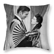 Clark Gable And Vivien Leigh Throw Pillow