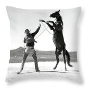 Clark Gable, The Misfits Throw Pillow