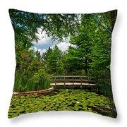 Clark Gardens Botanical Park Throw Pillow