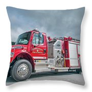 Clarks Chapel Fire Rescue - Engine 1351, North Carolina Throw Pillow