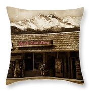 Clarks Old General Store Throw Pillow