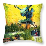 Clarksdale Authentic Madness Throw Pillow
