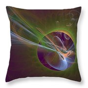 Clash Of Energy Throw Pillow