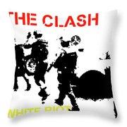 Clash White Riot  Throw Pillow