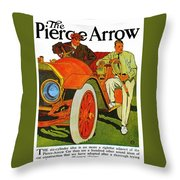 Classic American Car Pierce Arrow 6 Cyl Convertible Ad Throw Pillow