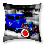Classic Blue Throw Pillow