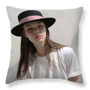 Classic Boater Hat Throw Pillow