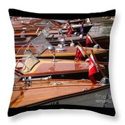Classic Boats Throw Pillow