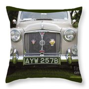 Classic Cars - Rover 110  Throw Pillow