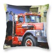 Classic Brockway Dump Truck Throw Pillow