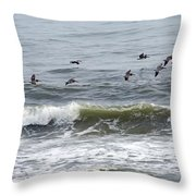 Classic Brown Pelicans Throw Pillow