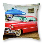 Classic Cadillac Throw Pillow