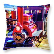 Classic Calico Train Throw Pillow